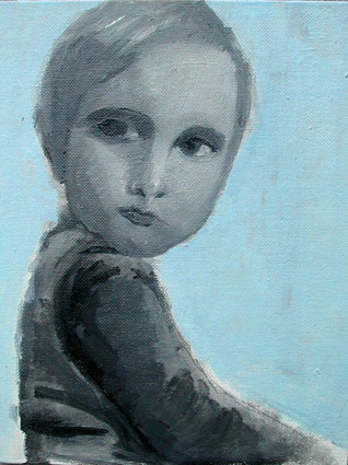 Childhood - Enfance  11, 18x14 cm, oil o