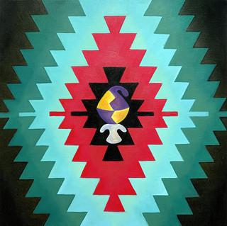 Sofra & Nizam 40x40 cm Oil on canvas 01.