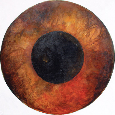 Web Cosmic'Eye NGC 0509, 50x50 cm, Oil o