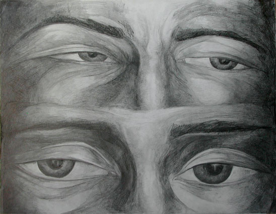 Expression 05, 55x65 cm, drawing on pape