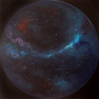 Cosmic'Eye NGC 1202, 120x120 cm, oil on