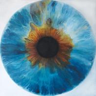 Web Cosmic'Eye NGC 1104, 100x100 cm, Oil