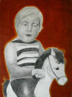 Childhood - Enfance 10, 70x55 cm, mixed