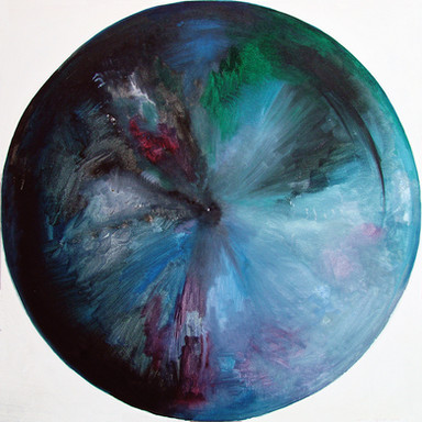 Web Cosmic'Eye NGC 0502, 50x50 cm, Oil o