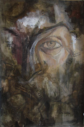 Expression 10, 120x80 cm, mixed media on