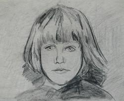 Childhood - Enfance  3, 21x29 cm, drawin