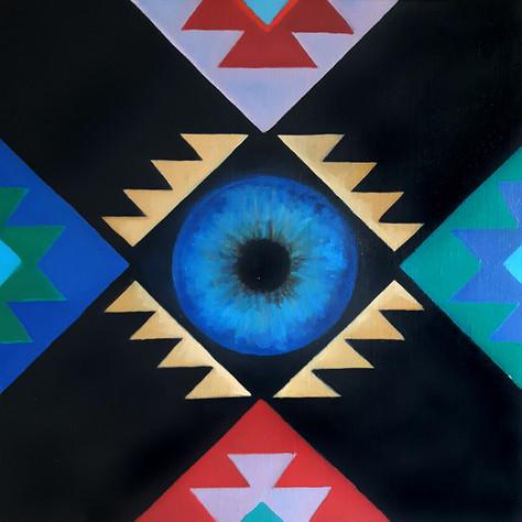 Sofras & Cosmic'Eye 40x40 cm Oil on canv