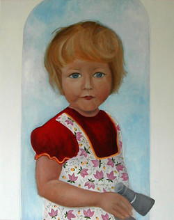 Autoportrait, 92x72 cm, oil on canvas-hu