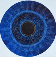 Web Cosmic'Eye NGC 0305, 30x30 cm, Oil o
