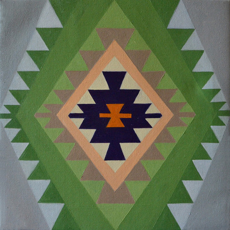 Sofra green 40x40 cm Oil on canvas 01.jp