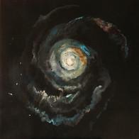 Cosmic'Eye NGC 1154, 100x100 cm, acrylic