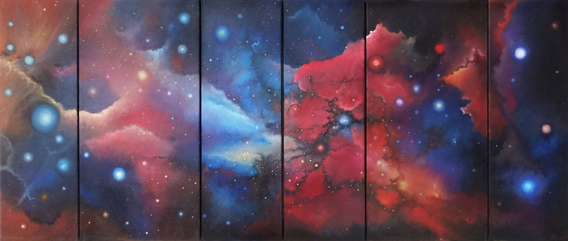 LandSpaces NightDream, Polyptyque 140x60