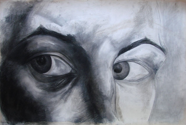 Expression 09, 80x120 cm, drawing on pap