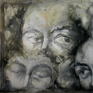 Expression 14, 55x65 cm, drawing on pape