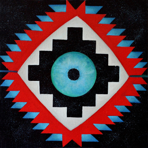 Etnostic Cosmic 40x40 cm 0il on canvas 0