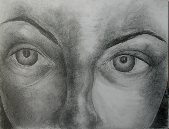 Expression 04, 55x65 cm, drawing on pape
