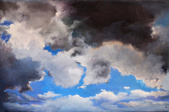 LandSpaces NGC 162401, oil on canvas, 16