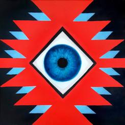 Sofra Cosmic'Eye 40x40 cm Oil on canvas