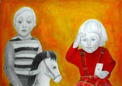 Childhood - Enfance 6, 55x65 cm, mixed m