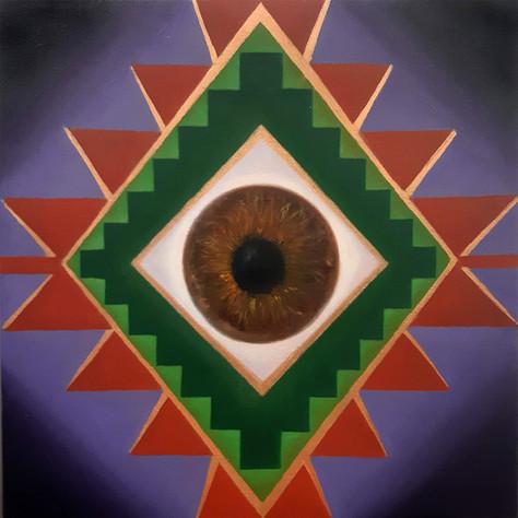 Sogra & Cosmic'Eye 40x40 cm 0il on canva