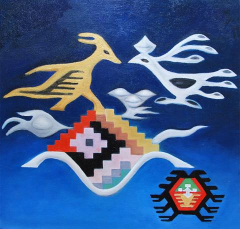 Doves 40x40 cm 0il on canvas 01.jpg