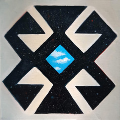 Etnostic Cosmic Sky 20x20 cm 0il on canv