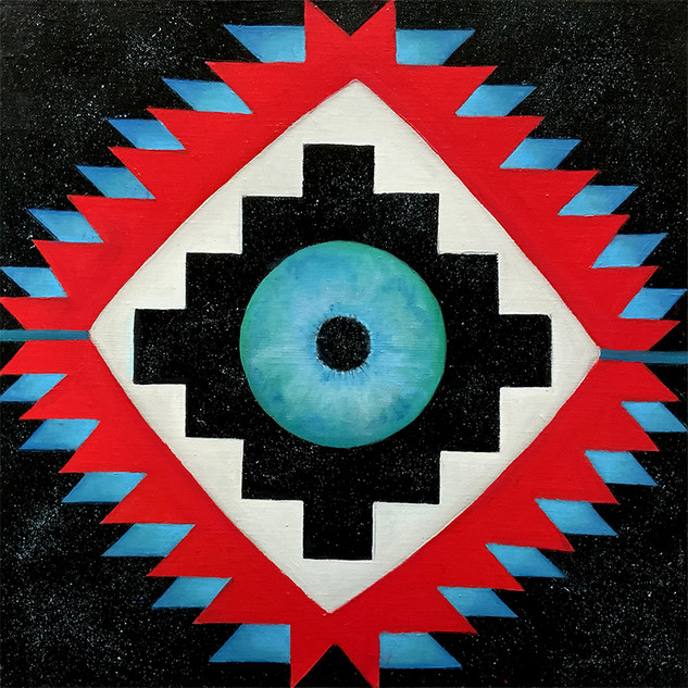 Etnostic Cosmic 40x40 cm 0il on canvas 0