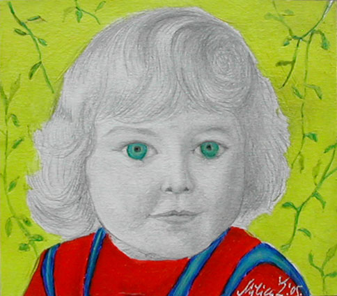 Childhood - Enfance 13, 10x10 cm, mixed