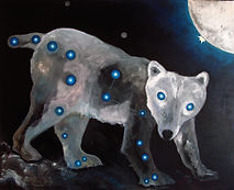 4 elements - EARTH - Big Bear, Acrylic o