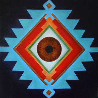 Sofra Cosmic'Eye 80x80 cm Oil on canvas