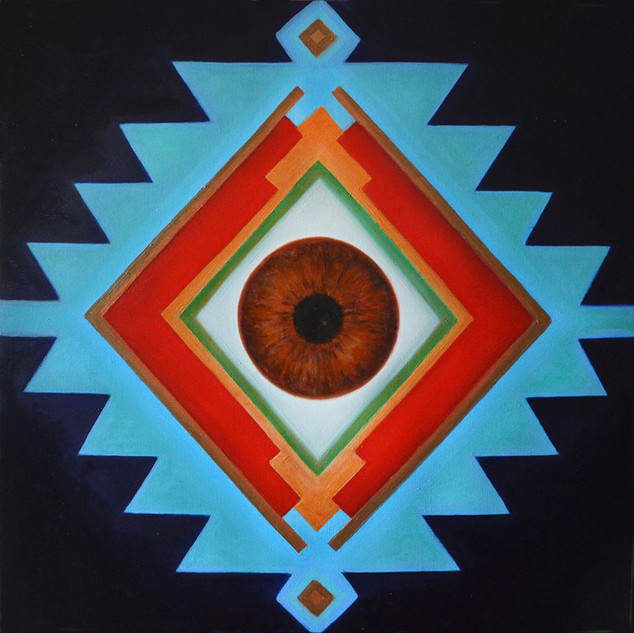 Sofra Cosmic'Eye 80x80 cm Oil on canvas