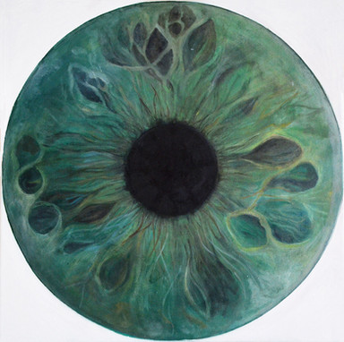 Web Cosmic'Eye NGC 0513, 50x50 cm, Oil o