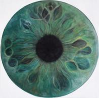 Web Cosmic'Eye NGC 0513, 50x50 cm, Oil o