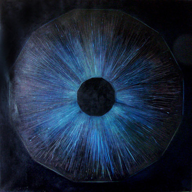 Cosmic'Eye NGC 1160, 100x100 cm, Oil on