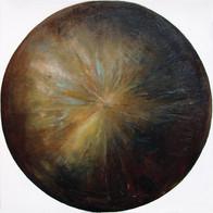 Web Cosmic'Eye NGC 0301, 30x30 cm, Oil o