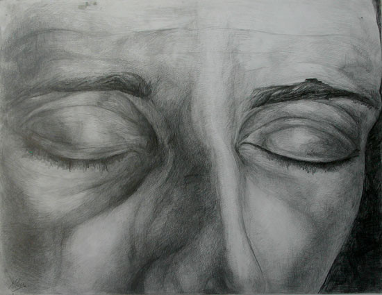 Expression 02, 55x65 cm, drawing on pape
