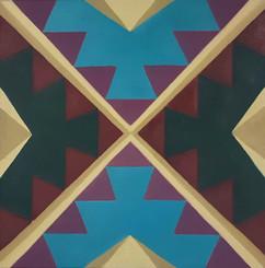 Sofra Pyramid 40x40 cm Oil on canvas 01.
