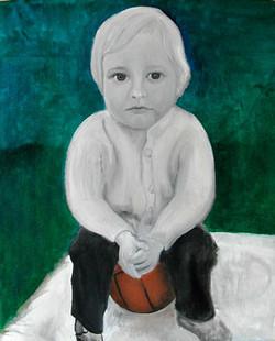 Childhood - Enfance 8, 33x27 cm, oil on