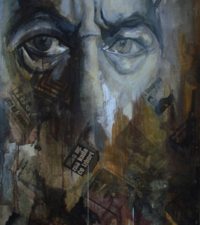 Expression 11, 120x80 cm, mixed media on
