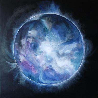 Cosmic'Eye NGC 1159, 100x100 cm, acrylic