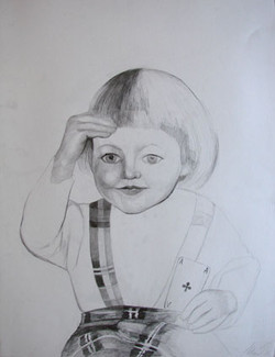 Childhood - Enfance 2, 65x55 cm, drawing