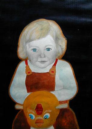 Childhood - Enfance 9, 70x55 cm, mixed m