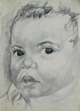 Childhood - Enfance 4, 31x22 cm, drawing