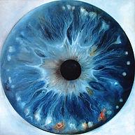 Web Cosmic'Eye NGC 1101, 100x100 cm, Oil