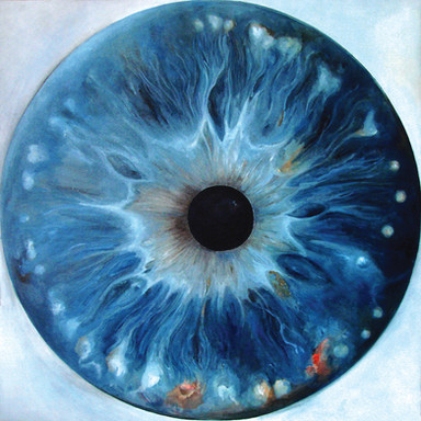 Web Cosmic'Eye NGC 1101, 100x100 cm, Oil