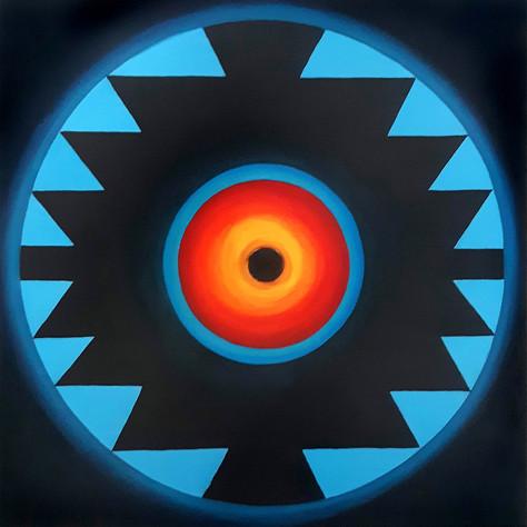 Sofra Black Hole 80x80 cm Oil on canvas