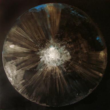 Cosmic'Eye NGC 1155, 100x100 cm, acrylic