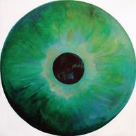Web Cosmic'Eye NGC 0210, 20x20 cm, Oil o