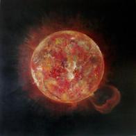 Cosmic'Eye NGC 1174, 100x100 cm, acrylic