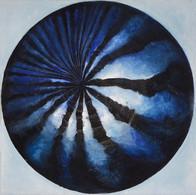 Web Cosmic'Eye NGC 0306, 30x30 cm, Oil o